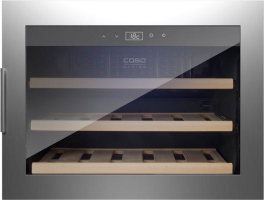 Винный шкаф CASO WineSafe 18 EB Inox серебристый черный винный шкаф caso winechef pro 40 серебристый