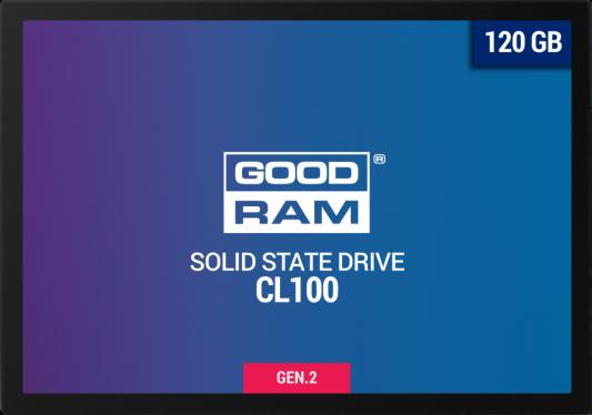 Твердотельный накопитель SSD 2.5 120 Gb Goodram SSDPR-CL100-120-G2 Read 485Mb/s Write 380Mb/s TLC