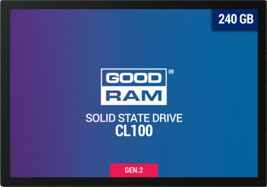 Твердотельный накопитель SSD 2.5 240 Gb Goodram SSDPR-CL100-240-G2 Read 520Mb/s Write 400Mb/s TLC