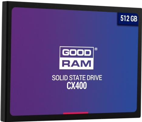 Твердотельный накопитель SSD 2.5 512 Gb Goodram SSDPR-CX400-512 Read 550Mb/s Write 490Mb/s TLC