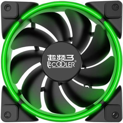 Вентилятор PCCooler CORONA GREEN 120x120x25мм (PWM, 40шт./кор, пит. от мат.платы и БП, 800-1800 об/мин) Retail