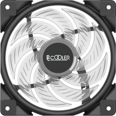 Вентилятор PCCooler HALO RGB KIT (3 IN 1) 120x120x25мм (PWM, RGB контроллер, 20шт./кор, пит. от мат.платы и БП, 1000-2000 об/мин) Retail