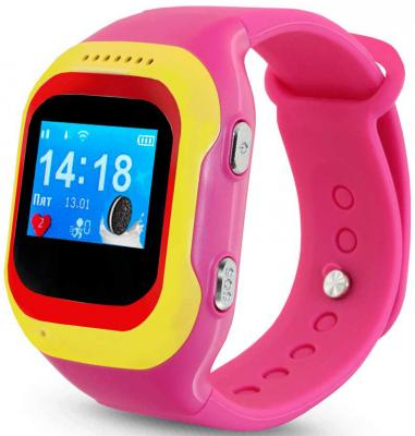 Смарт-часы Ginzzu GZ-501 0.98 OLED красный/желтый (00-00000891) смарт часы ginzzu gz 501 синий