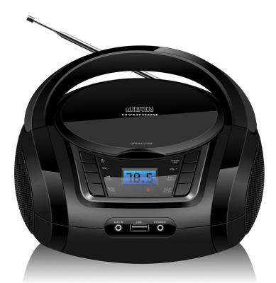 Аудиомагнитола Hyundai H-PCD320 черный 4Вт/CD/CDRW/MP3/FM(dig)/USB/BT/SD/MMC/microSD аудио для авто brand new 100 mp3 fm usb sd mmc lcd mp3
