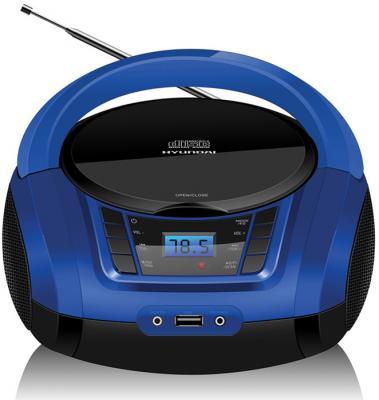 лучшая цена Аудиомагнитола Hyundai H-PCD340 черный/синий 4Вт/CD/CDRW/MP3/FM(dig)/USB/BT/SD/MMC/microSD