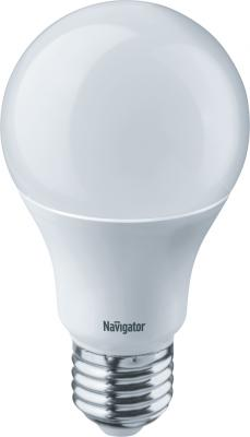 лампа светодиодная e27 10w 6500k груша матовая 4690389085550 Лампа светодиодная груша Navigator NLL-A60-10-230-6.5K-E27 E27 10W 6500K 61 237