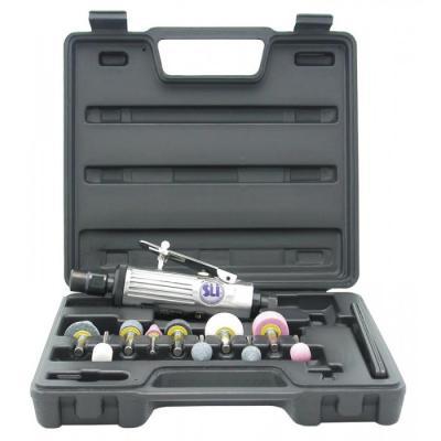 Пневмошлифмашина SUMAKE ST-P7732МК с набором шарошек в пластиковом кейсе, 368 л/мин