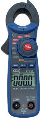 Клещи CEM DT-351 электроизмерительные клещи cem dt 9809
