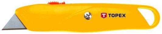 Нож TOPEX 17B140 с трапециевидным лезвием металлический корпус нож topex 34d051