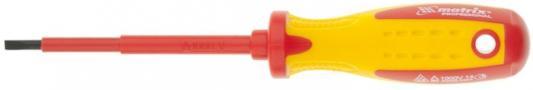 Отвертка MATRIX 12916 insulated sl4.0 x 100мм crmo до 1000 в двухкомп.рукоятка