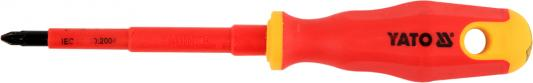 Отвертка крестообразная прямая Yato YT-2826 трещотка прямая yato 3 8 197 мм