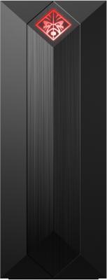 ПК HP OMEN 875-0004ur i3 8100 (3.6)/8Gb/1Tb 7.2k/SSD128Gb/GTX1050Ti 4Gb/CR/Windows 10 64/GbitEth/WiFi/BT/300W/черный