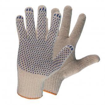 Фото - Перчатки НИЖТЕКСТИЛЬ 0014P х/б с ПВХ 10 класс 48гр точка белые Люкс перчатки манипула антистатик нейлоновые антистатические белые без пвх