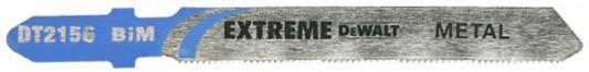 Пилка д/лобзика DEWALT DT2156-QZ п/мет. BIM EXTREME. 76x51x0.8x2.5 мм, T118GF 3шт пилка для лобзика по алюминию xpc bim 100x75x3 0x30 3шт dewalt dt2221 qz dt2221 qz