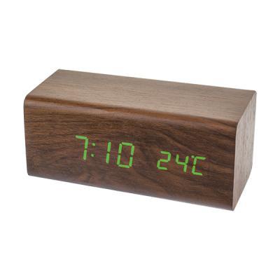 Часы настольные Perfeo PF-S718T коричневый