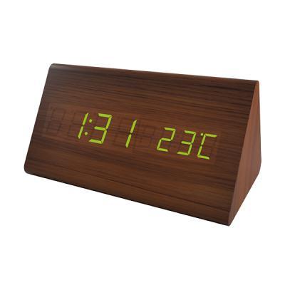 Часы настольные Perfeo PF-S710T коричневый