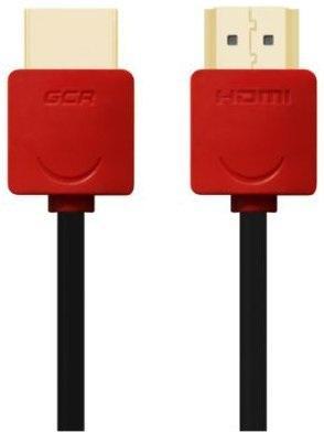 Кабель HDMI 1.5м Green Connection GCR-HM550-1.5m круглый черный/красный