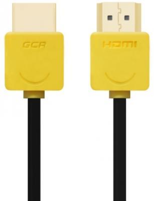 Кабель HDMI 1м Green Connection GCR-HM540-1.0m круглый черный/желтый кабель hdmi 1 5м green connection gcr 50770 плоский синий