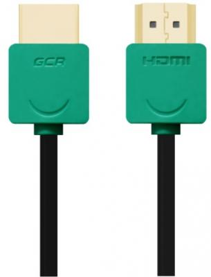 Кабель HDMI 1.5м Green Connection GCR-HM520-1.5m круглый черный/зеленый