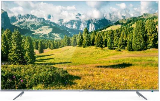 "Телевизор LED TCL 55"" L55P6US Metal серебристый/Ultra HD/60Hz/DVB-T/DVB-T2/DVB-C/DVB-S/DVB-S2/USB/WiFi/Smart TV (RUS)"