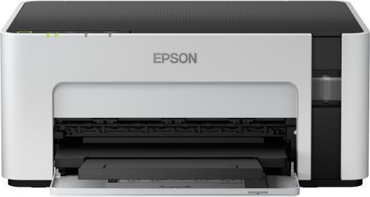 Фото - Принтер струйный Epson M1120 (C11CG96405) A4 WiFi USB серый/черный принтер струйный canon pixma tr150 4167c027 a4 wifi usb черный в комплекте батерея