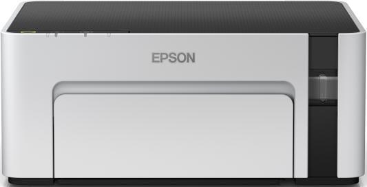 Принтер струйный Epson M1100 (C11CG95405) A4 USB серый/черный принтер струйный epson l805 струйный цвет черный [c11ce86403]