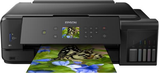 цена на МФУ струйный Epson L7180 (C11CG16404) A3 Duplex Net WiFi USB RJ-45 черный