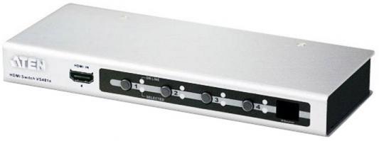 ATEN VS481A-AT-G I/O VIDEO SWITCH 4PORT [VS481A-E] used original cp1h x40dt d cp1h plc controller cpu for omron sysmac 40 i o transistor 24v encoder pulse counter