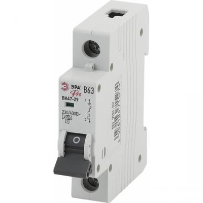 Автомат ЭРА Pro NO-900-74 ва47-29 1p 10а кривая b (12/180/3780) автомат эра no 902 101 ва47 29 1p 10а кривая c 12 180 3780