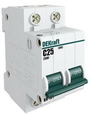 Купить Выключатель DEKRAFT 11127DEK авт. мод. 3п d 20а ВА-101 4.5ка, белый