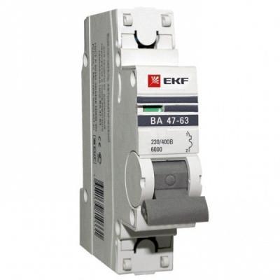 Выключатель EKF mcb4763-6-1-16C-pro авт. мод. 1п c 16а ва 47-63 6ка proxima цена