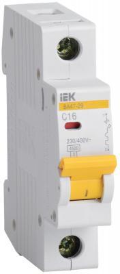 Выключатель автоматический модульный ИЭК 1п C/ 1,6А ВА 47-29 MVA20-1-D16-C