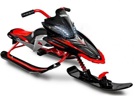 Снегокат Yamaha Apex Snow Bike до 40 кг черный красный Пластик сталь снегокат yamaha apex snow bike titanium black blue