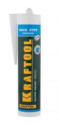 Герметик силиконовый KRAFTOOL 41256-2 0.3л kraftflex gx107 aqua stop стекольный прозрачный