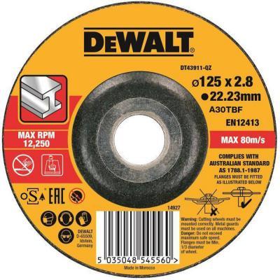 Картинка для Круг отрезной DEWALT DT43911-QZ  п/мет.,125x22.2x3мм,тип42