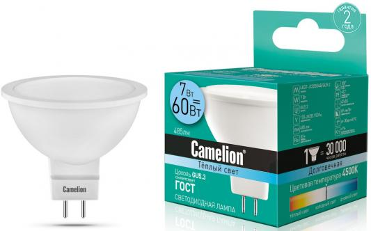 Купить Лампа светодиодная рефлекторная Camelion LED7-JCDR/845/GU5.3 GU5.3 7W 4500K