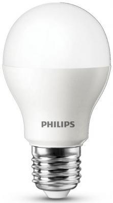 лампа светодиодная e27 10w 6500k груша матовая 4690389085550 Лампа светодиодная груша Philips Essential E27 7W 6500K