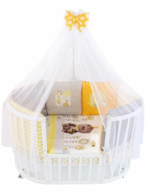 Купить Постельный сет 7 предметов Золотой Гусь My Little Kitten, белый, 120 х 60 см, Постельные сеты