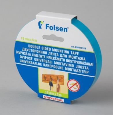 купить Лента для монтажа FOLSEN 19мм х 5м x 1,1мм, черная, вспененный РЕ дешево