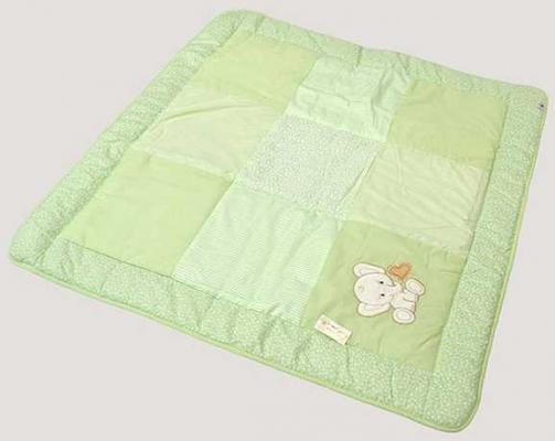Купить Одеяло лоскутное 110x110см Labeillebaby (3604), зеленый, 120 х 60 см, хлопок, Одеяла и пледы
