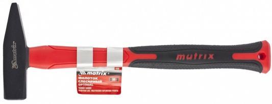 Молоток слесарный MATRIX 10379 optimal 800г фибергласовая обрезиненная рукоятка квадратный боек