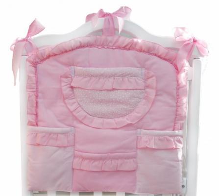 Карман на кроватку Labeillebaby Малышка (розовый)