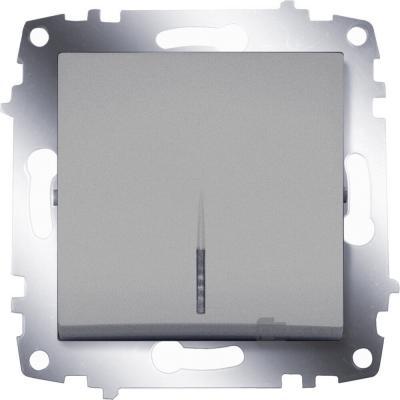 Выключатель ABB COSMO 619-011000-201 алюминий 1 кл с подсв.