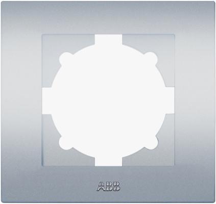 Рамка ABB COSMO 612-011000-271 алюминий 1 постовая abb abb bje impuls бел рамка 2 ая 1754 0 4226