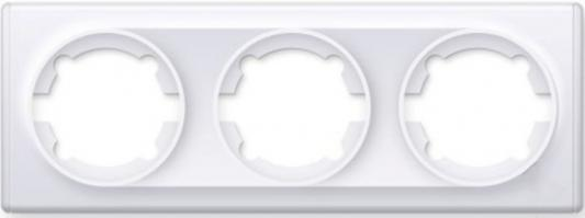 Рамка ONEKEYELECTRO1E52301300 3-м Florence бел механизм переключателя 1 кл onekeyelectro 1e31401300 сп florence бел