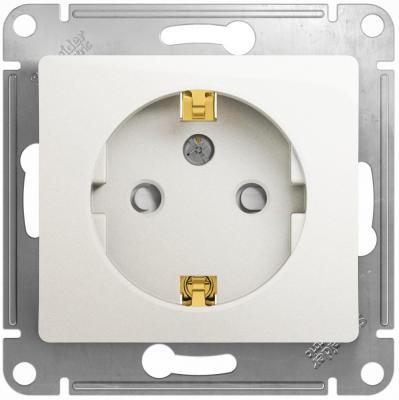 Механизм розетки SCHNEIDER ELECTRIC GSL000145 glossa 1-м СП 16А защ. шторки с заземл. бел.