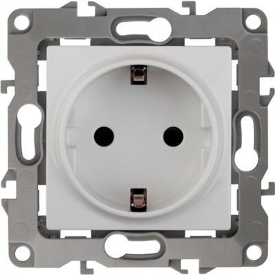 Розетка ЭРА 12-2101-01 2P+E Schuko, 16A-250В, IP20, Эра12, белый