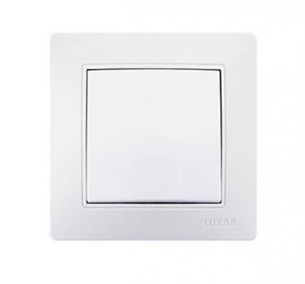 Выключатель LUXAR Novo 02.001.01 с/у 1-кл. белый, 250В 10А