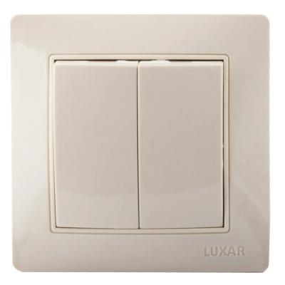 Выключатель LUXAR Novo 02.011.04 с/у 2-кл. кремовый, 250В 10А