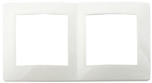 Рамка LUXAR Novo 02.922.01 на 2 поста белая универсальная